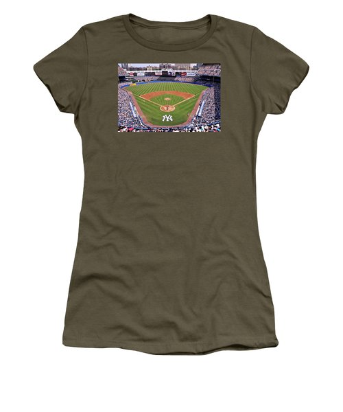 Yankee Stadium Women's T-Shirt (Junior Cut) by Allen Beatty