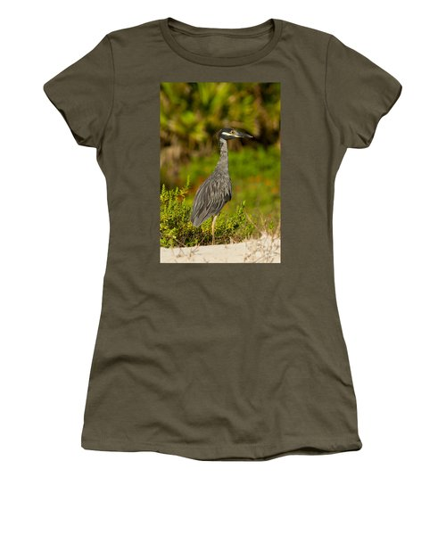 Yellow Crowned Night Heron Dune Watch Women's T-Shirt