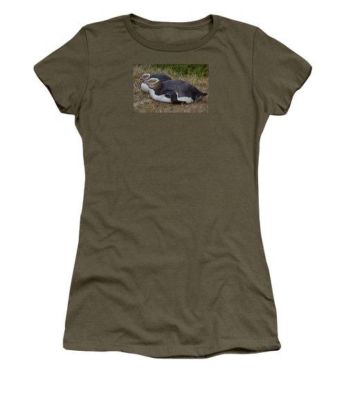 Sleeping Yellow Eyed Penguins Women's T-Shirt