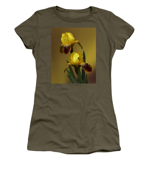 Yellow Iris Women's T-Shirt (Junior Cut) by Judy  Johnson