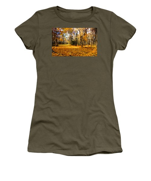 Yellow Leaf Road Women's T-Shirt