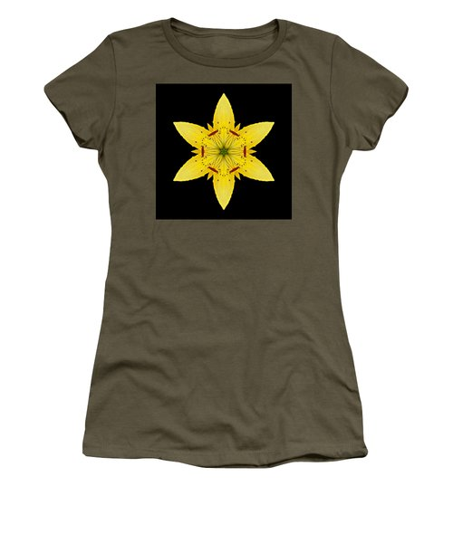 Yellow Lily I Flower Mandala Women's T-Shirt