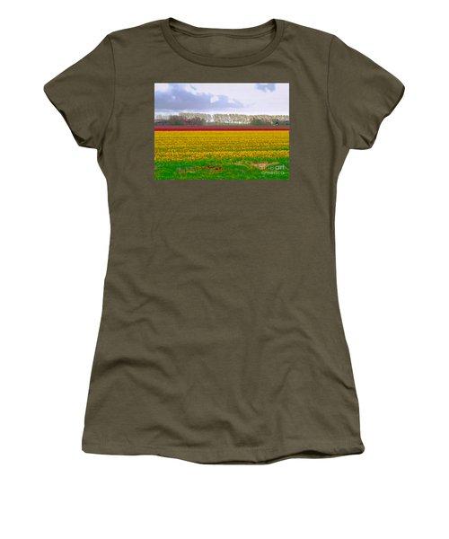Women's T-Shirt featuring the photograph Yellow Meadow by Luc Van de Steeg
