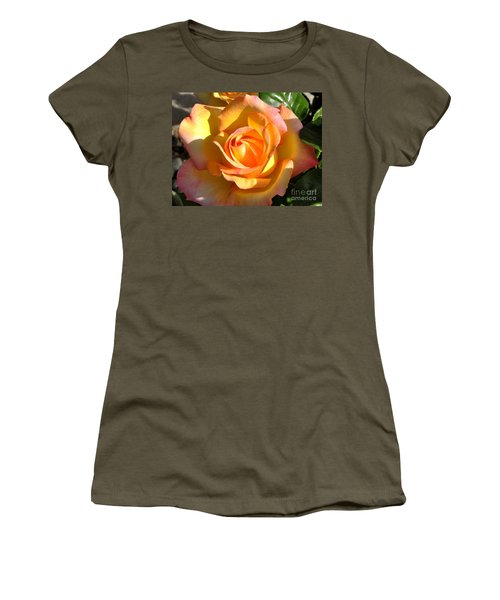 Yellow Rose Bud Women's T-Shirt (Junior Cut) by Debby Pueschel