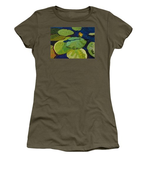 Yellow Waterlily Women's T-Shirt (Junior Cut) by Phil Chadwick