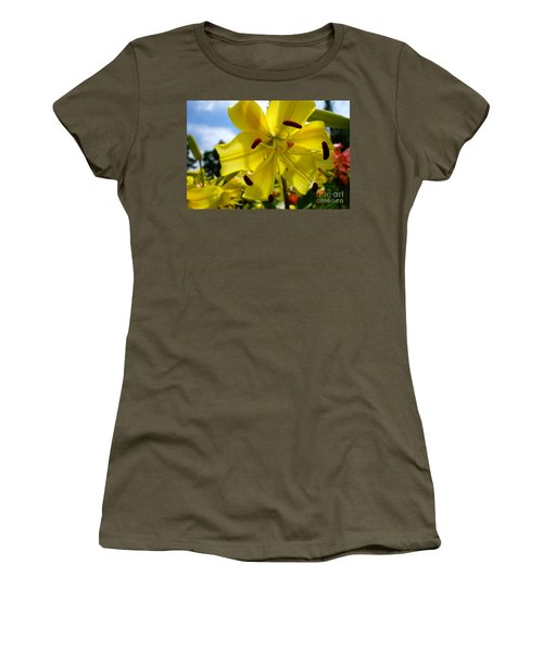 Yellow Whopper Lily 2 Women's T-Shirt