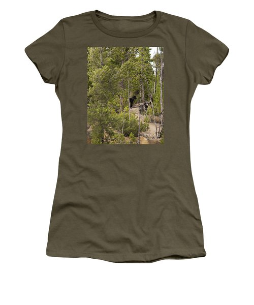 Yellowstone Wolves Women's T-Shirt (Junior Cut) by Belinda Greb