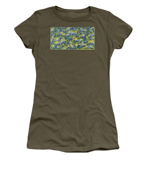 Yellowtail Frenzy In0023 Women's T-Shirt