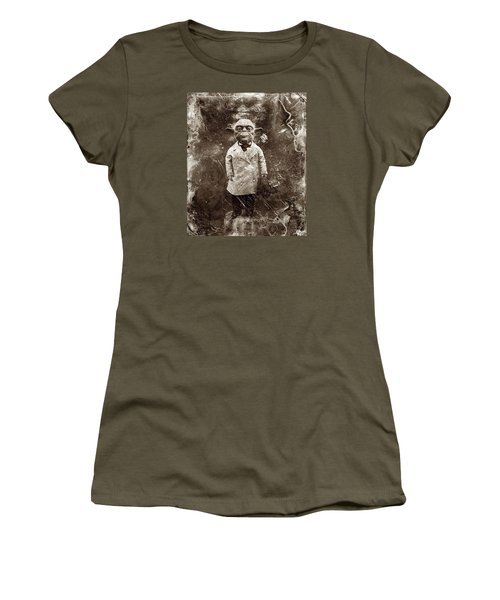 Yoda Star Wars Antique Photo Women's T-Shirt (Athletic Fit)