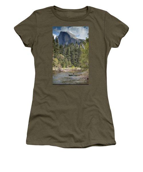 Yosemite National Park. Half Dome Women's T-Shirt (Junior Cut) by Juli Scalzi