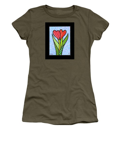 You And Me Women's T-Shirt (Junior Cut) by Jim Harris