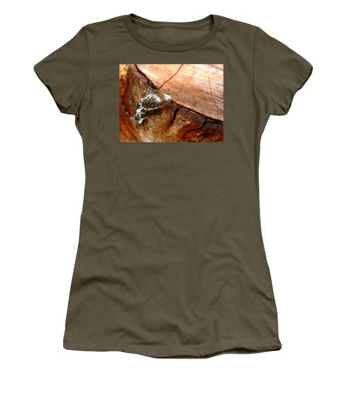 Women's T-Shirt (Junior Cut) featuring the photograph You Can See Me? by Greg Allore