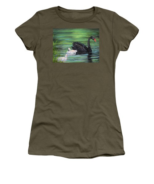 You Comin'--black Swan Women's T-Shirt (Athletic Fit)