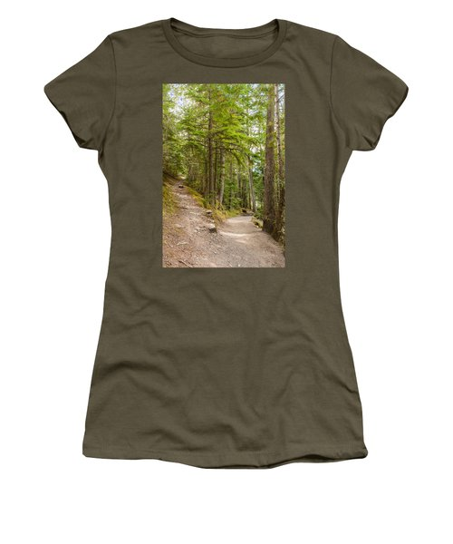 Women's T-Shirt (Athletic Fit) featuring the photograph You Take The High Road And I'll Take The Low Road by John M Bailey