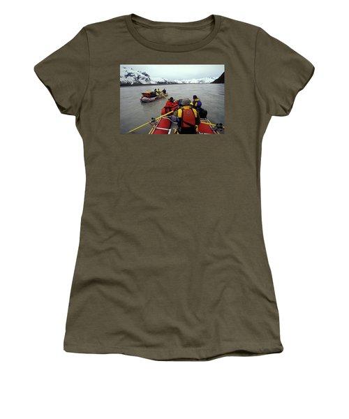 Young Adults Rafting On Alsek River Women's T-Shirt