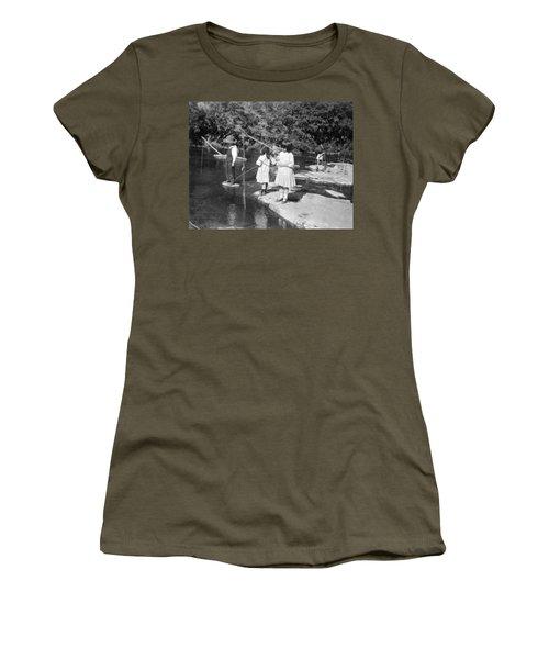 Young Children Fishing Women's T-Shirt
