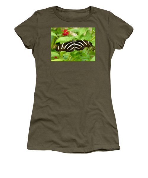 Zebra Longwing Women's T-Shirt (Junior Cut) by Judy Wanamaker