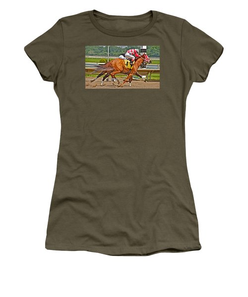 Women's T-Shirt (Junior Cut) featuring the photograph  Betting On Number Four by Alice Gipson