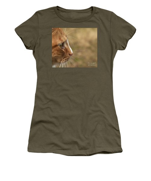 Women's T-Shirt (Junior Cut) featuring the photograph Flitwick The Cat by Jeannette Hunt