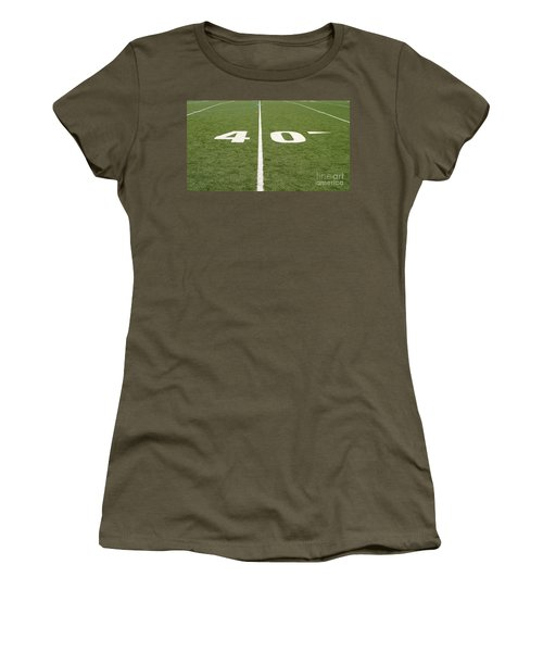 Football Field Forty Women's T-Shirt (Junior Cut) by Henrik Lehnerer