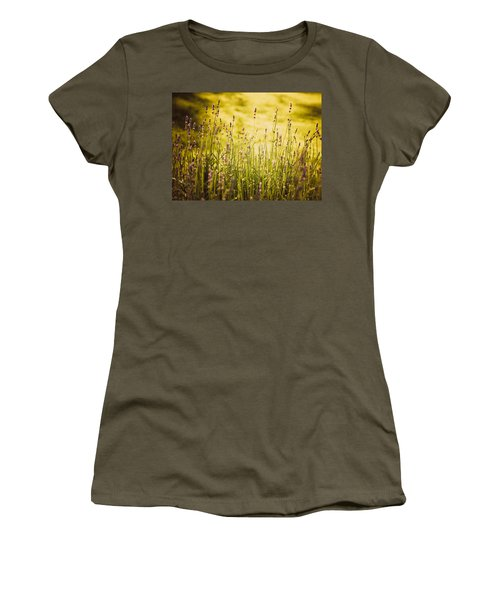Women's T-Shirt (Junior Cut) featuring the photograph Lavender Gold by Sara Frank