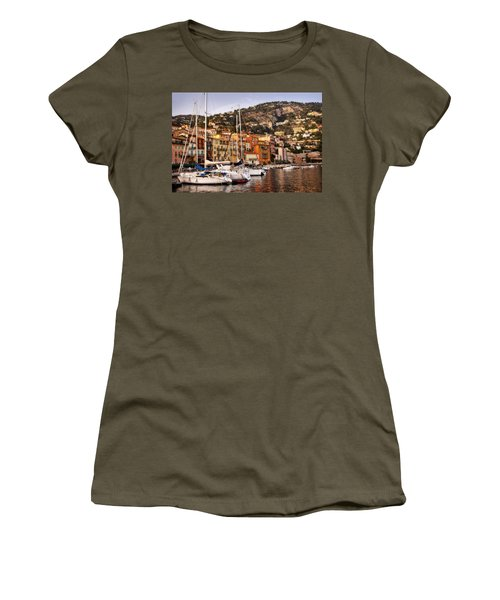 Women's T-Shirt (Junior Cut) featuring the photograph Villefranche-sur-mer  by Steven Sparks