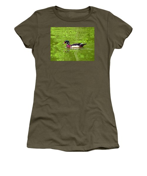 Water Wood Duck Women's T-Shirt (Athletic Fit)
