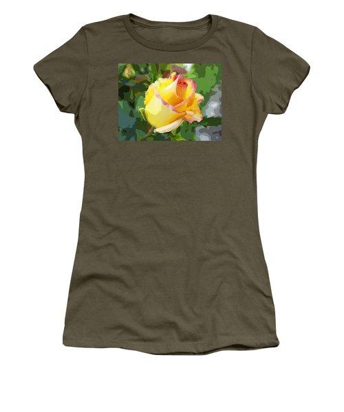 Yellow Rose Women's T-Shirt (Junior Cut) by Anne Mott
