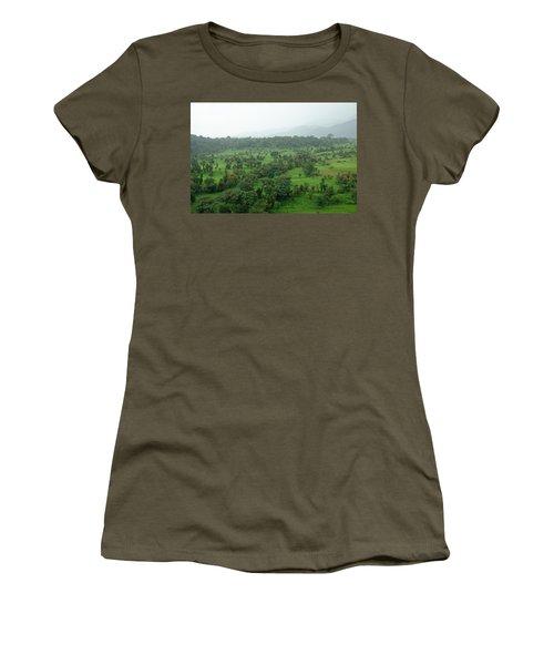 A Beautiful Green Countryside Women's T-Shirt (Junior Cut)