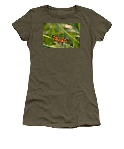 Women's T-Shirt (Junior Cut) featuring the photograph A Pearl In The Grass by JD Grimes