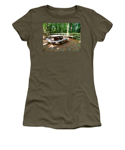 Women's T-Shirt (Junior Cut) featuring the photograph A Place For Gathering by Ester  Rogers