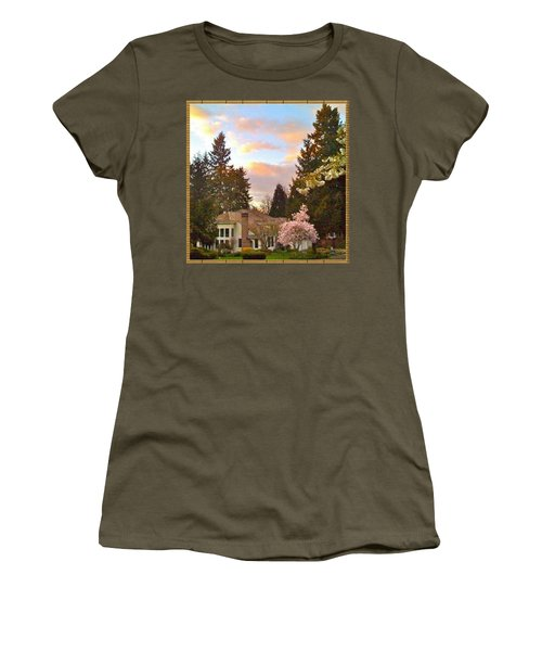 A Spring Evening - Lake Oswego Or Women's T-Shirt (Athletic Fit)