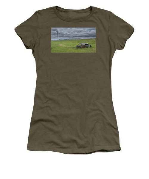 Abandoned Auto On The Prairie No.1281 Women's T-Shirt