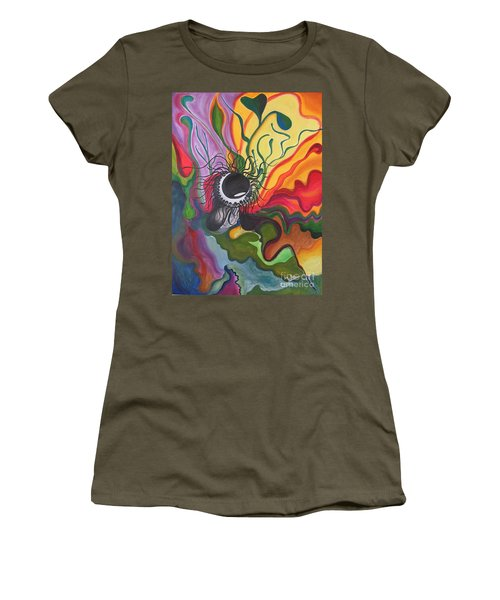 Abstract Underwater Anemone Women's T-Shirt (Athletic Fit)