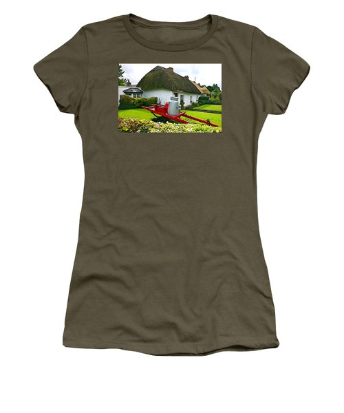 Women's T-Shirt (Junior Cut) featuring the photograph Adare Cottage by Charlie and Norma Brock
