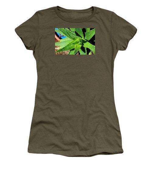 Aloe Women's T-Shirt (Junior Cut) by M Diane Bonaparte