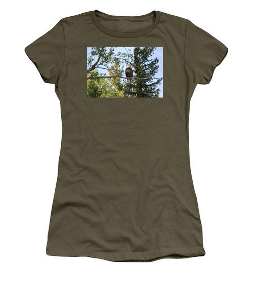 American Eagle Women's T-Shirt (Junior Cut) by Living Color Photography Lorraine Lynch