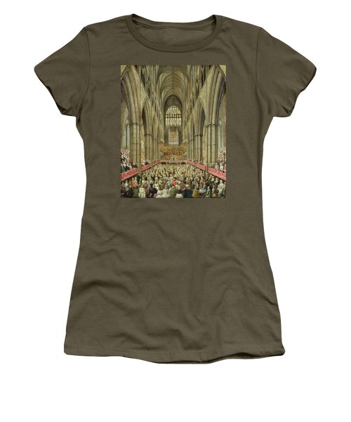 An Interior View Of Westminster Abbey On The Commemoration Of Handel's Centenary Women's T-Shirt (Junior Cut) by Edward Edwards