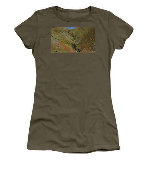 Women's T-Shirt (Junior Cut) featuring the photograph Annascaul Mountains by Barbara Walsh