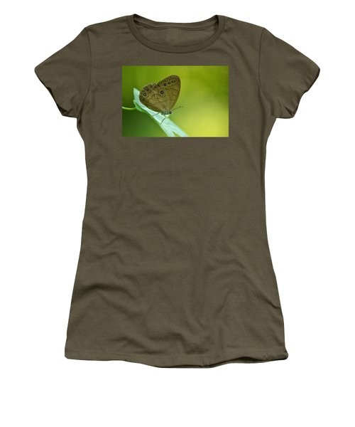 Women's T-Shirt (Junior Cut) featuring the photograph Appalachian Brown by JD Grimes