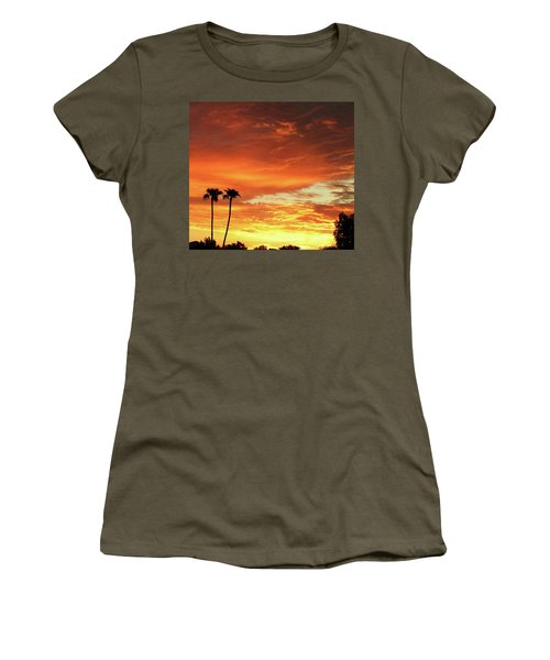 Women's T-Shirt (Junior Cut) featuring the photograph Arizona Sunrise 02 by Rand Swift