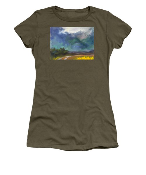At The Feet Of Giants Women's T-Shirt