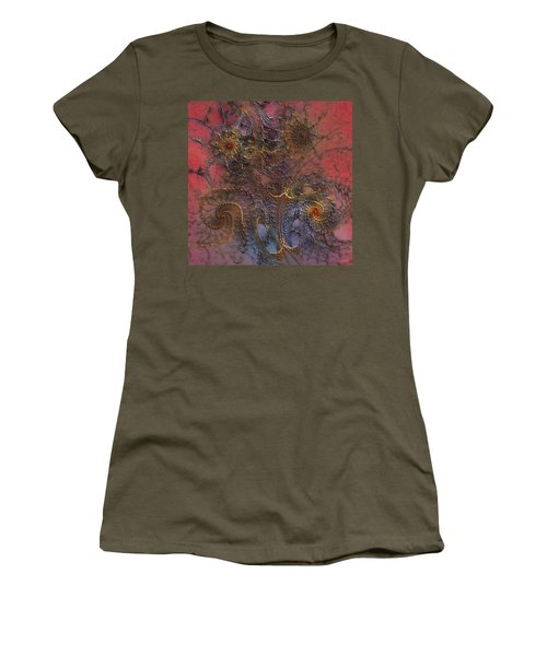 Women's T-Shirt (Junior Cut) featuring the digital art At The Moment by Casey Kotas