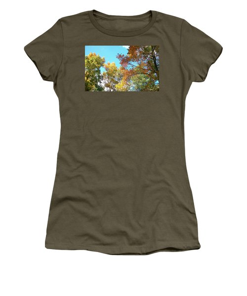 Women's T-Shirt (Junior Cut) featuring the photograph Autumn's Vibrant Image by Pamela Hyde Wilson