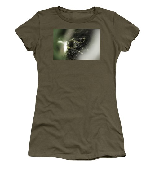 Women's T-Shirt (Junior Cut) featuring the photograph Baby Robin by Tom Gort