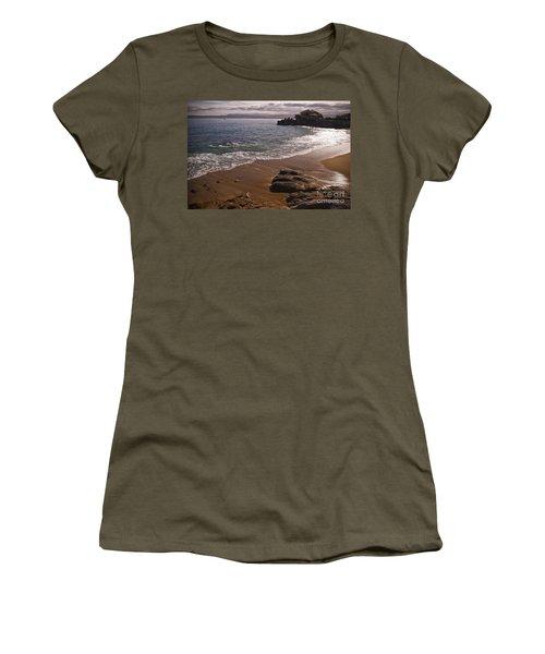 Beach At Monteray Bay Women's T-Shirt (Junior Cut) by Darcy Michaelchuk