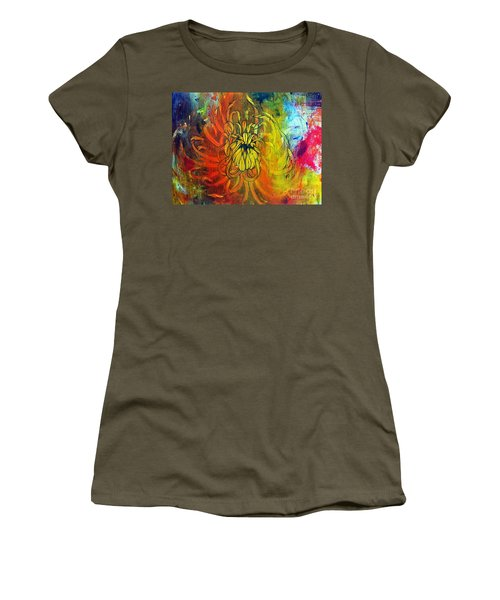 Women's T-Shirt (Junior Cut) featuring the painting Beautiful Mistake by Sandro Ramani