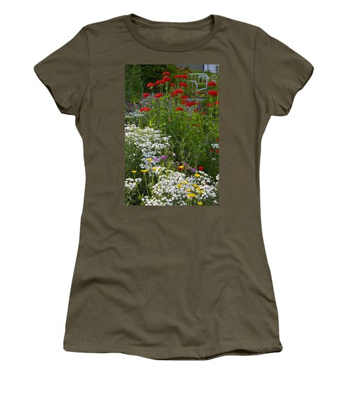 Women's T-Shirt (Junior Cut) featuring the photograph Bed Of Flowers by Johanna Bruwer