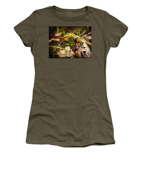 Big Brown Eyes Women's T-Shirt (Junior Cut) by Cheryl Baxter