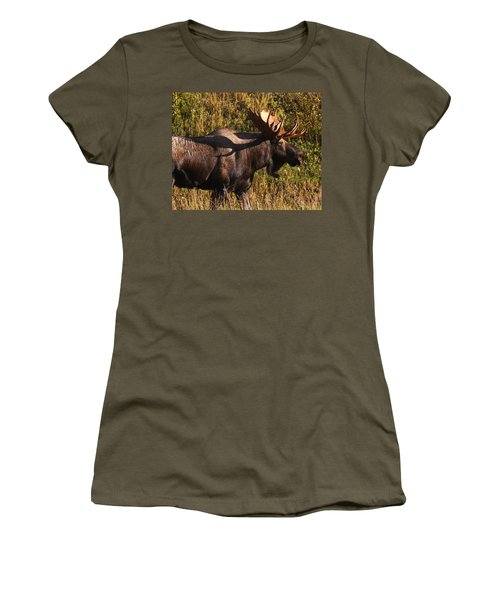 Women's T-Shirt (Junior Cut) featuring the photograph Big Bull by Doug Lloyd